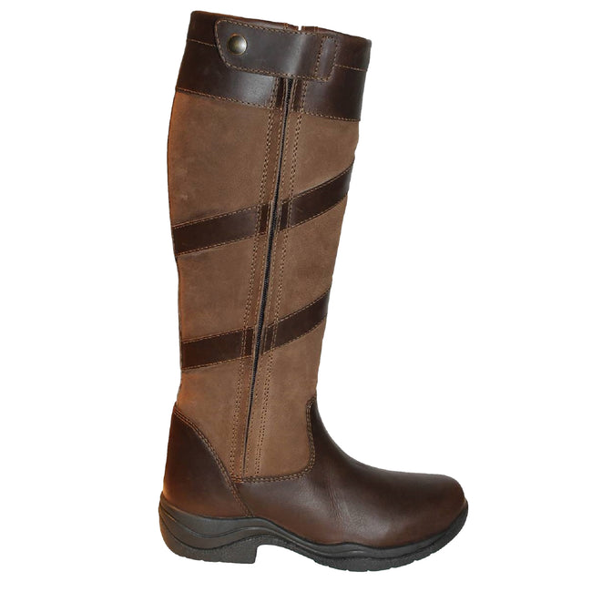 Brown - Front - Mark Todd Adults Tall Waterproof Zip Boots