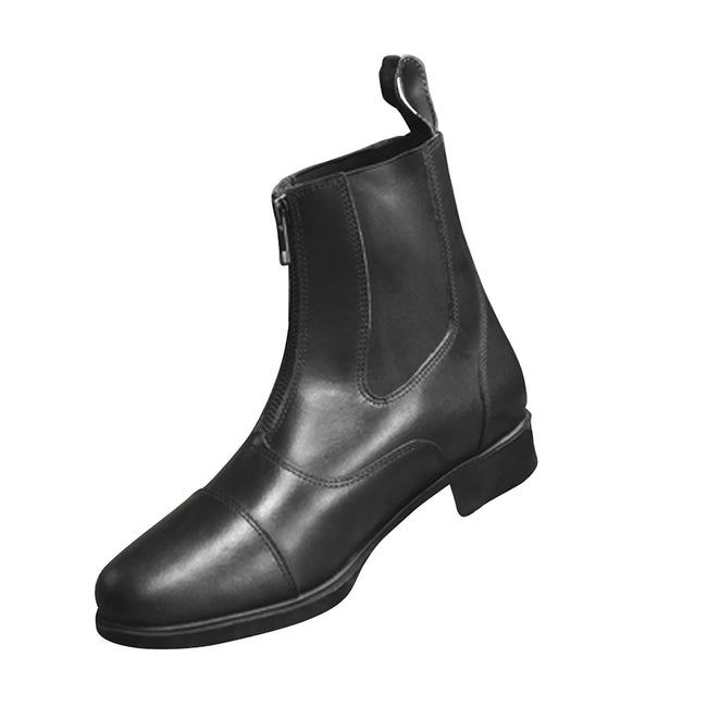 Black - Front - Mark Todd Adults Toddy Zip Jodhpur Boots