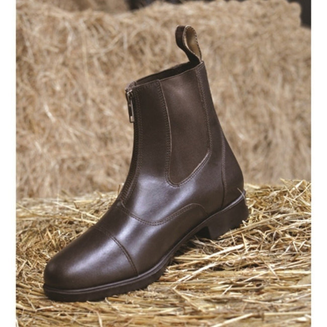 Black - Back - Mark Todd Adults Toddy Zip Jodhpur Boots