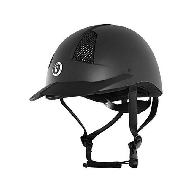Black - Front - Gatehouse Air Rider MK II Matt Riding Hat