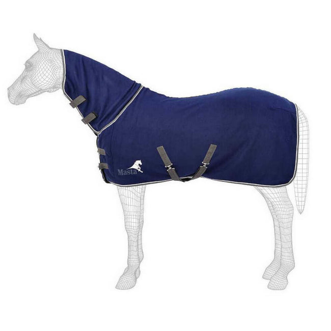 Navy Blue - Front - Masta Avante Fixed Neck Fleece Rug