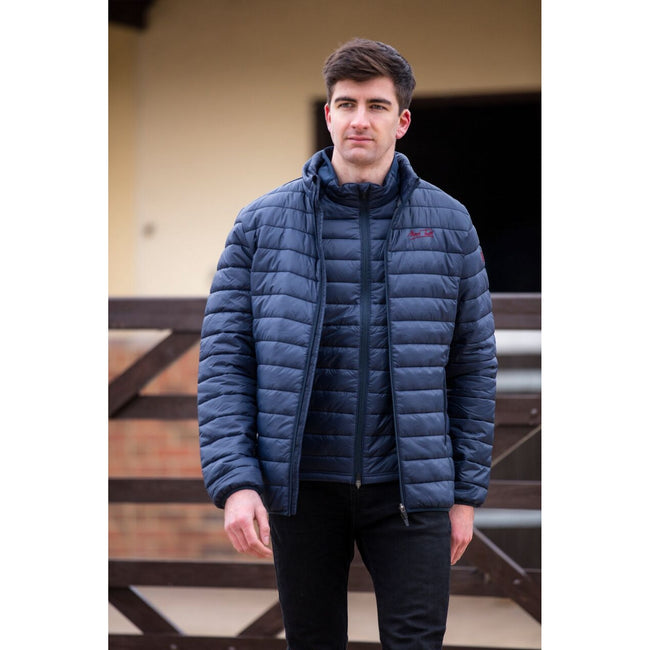 Navy - Back - Mark Todd Adults Unisex Quilted Gilet