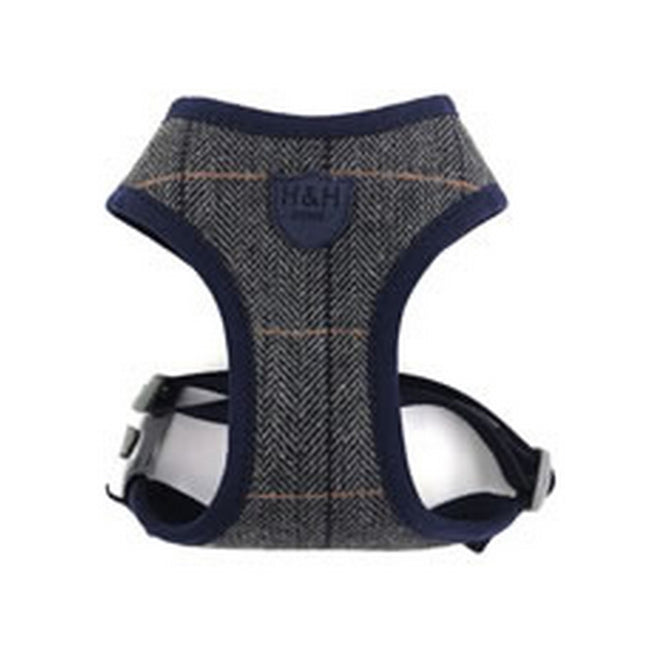 Grey Checked - Front - Hugo & Hudson Herringbone Harness