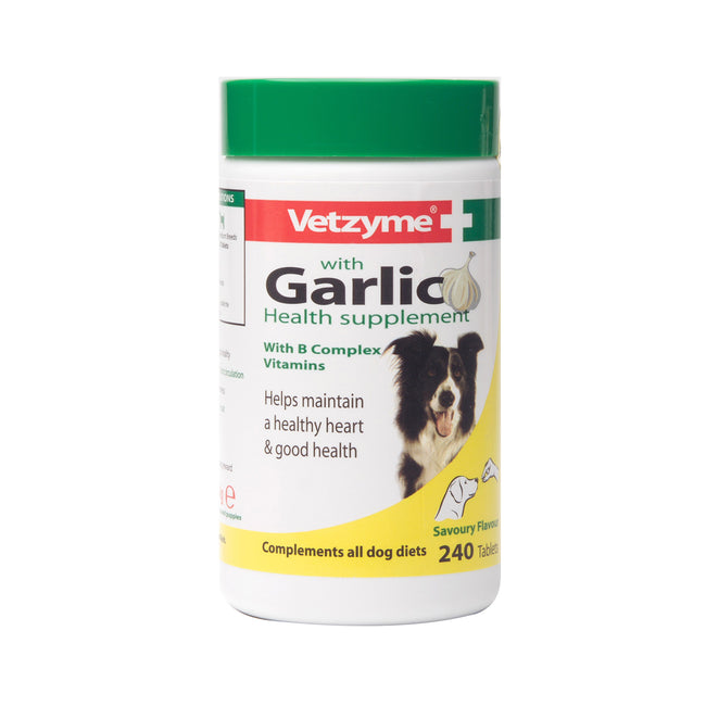 May Vary - Front - Vetzyme Garlic Tablets