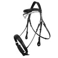Black - Front - Whitaker Lynton Leather Snaffle Bridle With Spare Browband