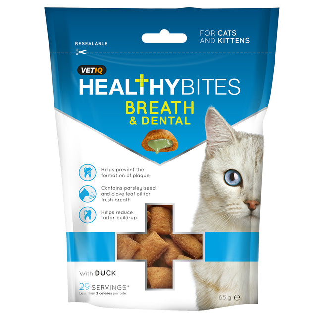 May Vary - Front - VetIQ Healthy Bites Breath & Dental For Cats & Kittens