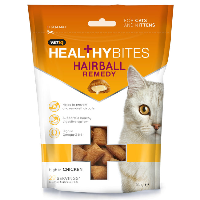 May Vary - Front - VetIQ Healthy Bites Hairball Remedy For Cats & Kittens