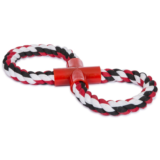 Black-White-Red - Front - Trespass Hooper Dog Tug Rope Toy