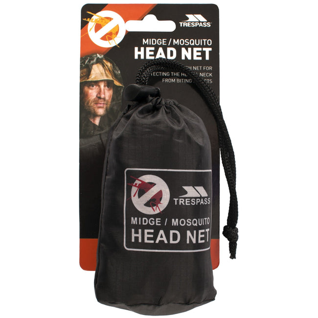 Black - Back - Trespass Midge Head-Face Mosquito-Insect Net
