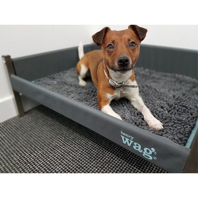 Grey - Back - Henry Wag Microfibre Noodle Mat
