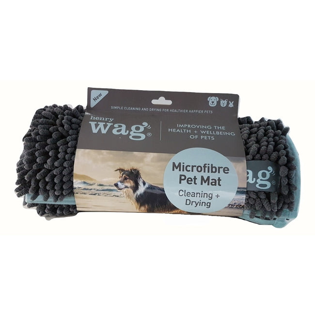 Grey - Side - Henry Wag Microfibre Noodle Mat