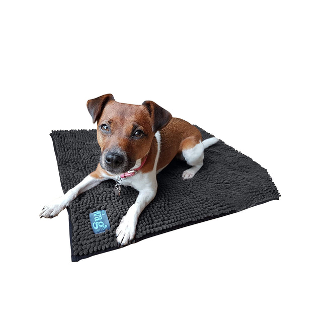Grey - Front - Henry Wag Microfibre Noodle Mat