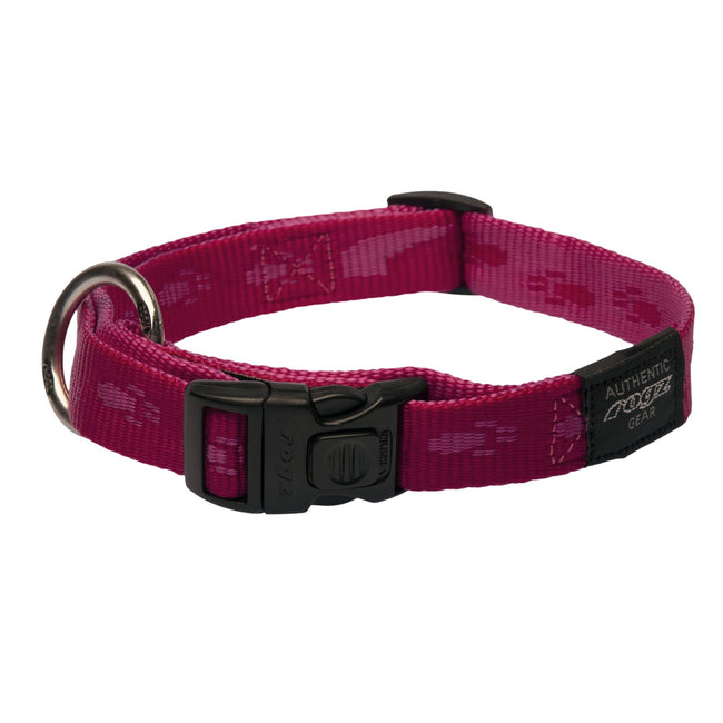 Pink - Front - Rogz Alpinist Side Release Adjustable Dog Collar