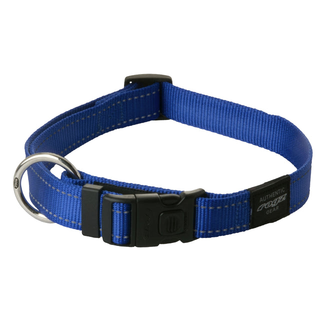 Red - Front - Rogz Utility Side Release Adjustable Dog Collar