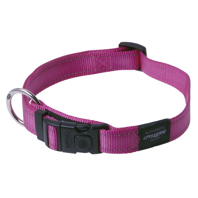 Black - Front - Rogz Utility Side Release Adjustable Dog Collar