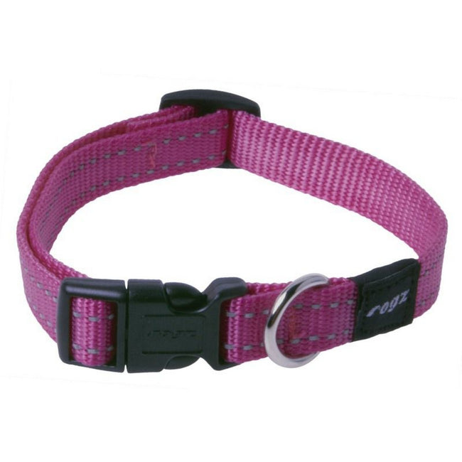 Purple - Front - Rogz Utility Side Release Adjustable Dog Collar