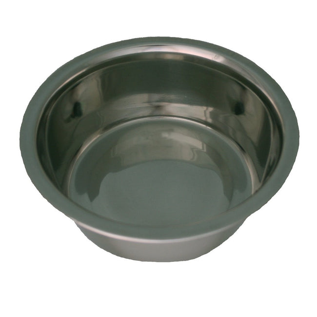 Silver - Side - Dog Life Stainless Steel Bowl