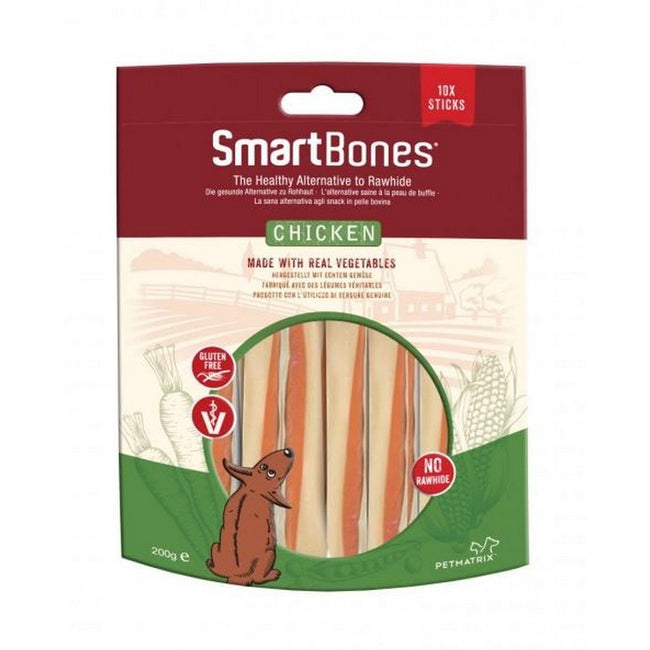 Chicken - Front - SmartBones Dog Chew Chicken Treat (Pack Of 10)