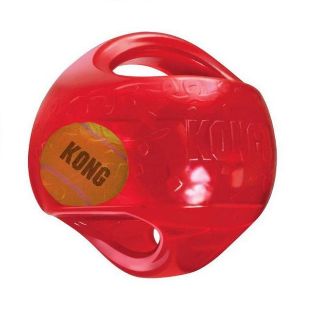 Red - Front - KONG Jumbler Two In One Dog Ball