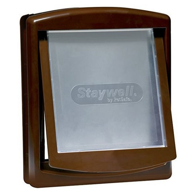 Brown - Front - Petsafe Staywell Medium Dog Door And Lock Panel
