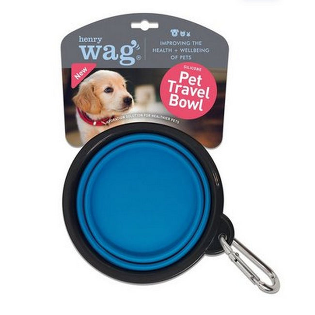 Blue - Back - Henry Wag Travel Dog Bowl