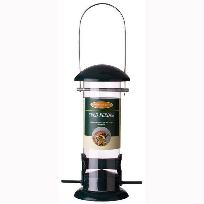 Black - Front - Johnston and Jeff Wild Bird Seed Feeder