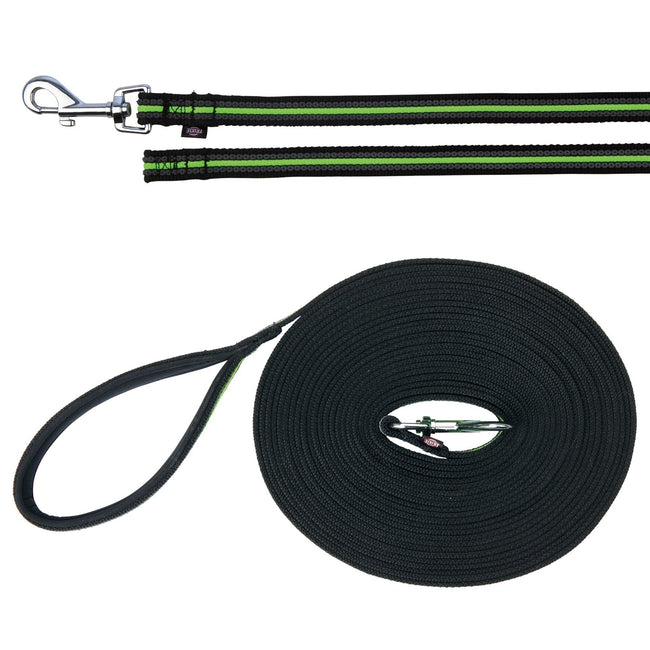 Black-Green - Front - Trixie Fusion Tracking Dog Leash