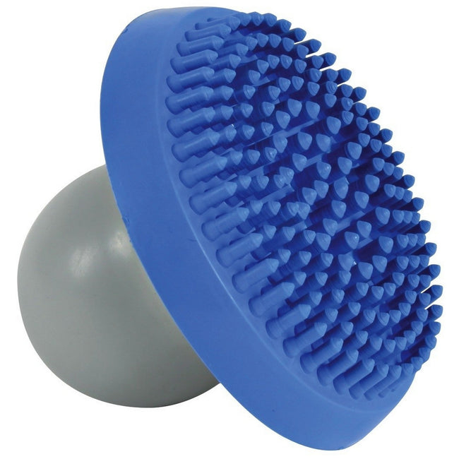 Blue-Grey - Front - Trixie Shampoo And Massage Brush