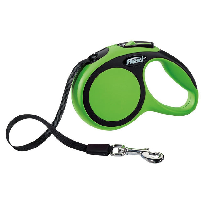 Green - Front - Flexi New Comfort Tape Dog Leash