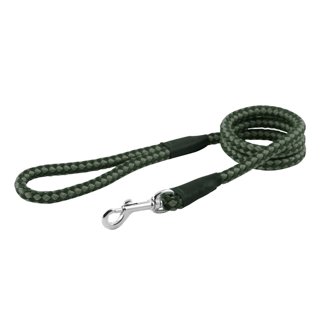 Green - Front - Ancol Pet Products Heritage Rope Dog Lead