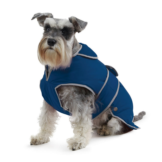 Blue - Front - Ancol Pet Products Muddy Paws Stormguard Reflective Dog Coat