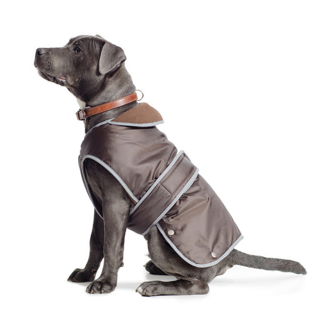 Chocolate - Front - Ancol Pet Products Muddy Paws Stormguard Reflective Dog Coat