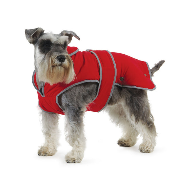 Red - Front - Ancol Pet Products Muddy Paws Stormguard Reflective Dog Coat
