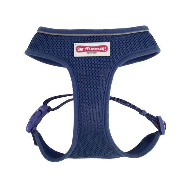 Petrol Blue - Front - Ancol Pet Products Comfort Mesh Dog Harness