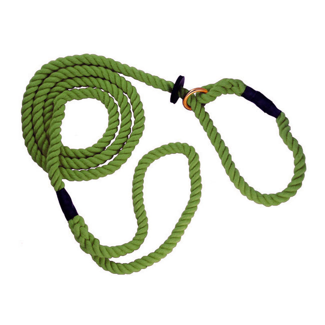 Olive - Front - The Animate Company Outhwaites Gun Dog Rope Slip Lead