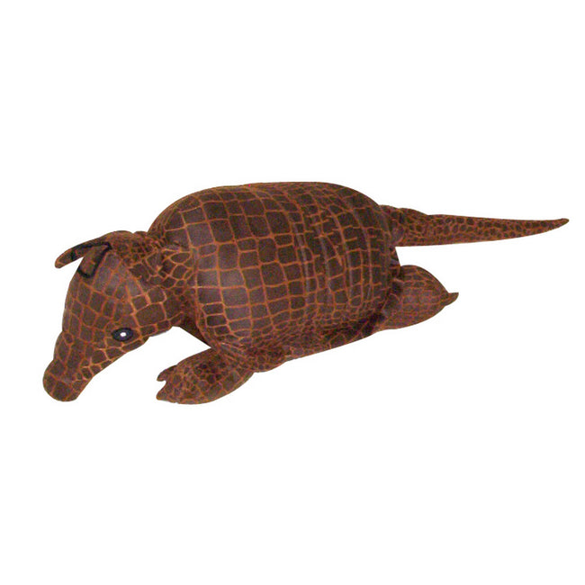 Brown - Front - Danish Design Pet Products Albert The Armadillo Toy