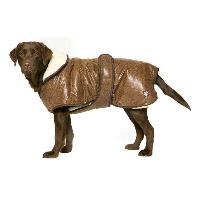 Brown - Side - Danish Design Pet Products Waggles Dog Coat