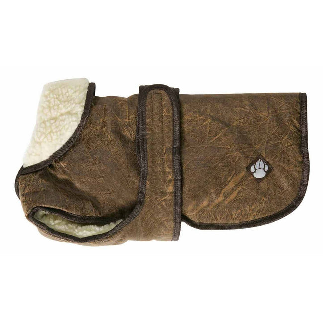 Brown - Front - Danish Design Pet Products Waggles Dog Coat