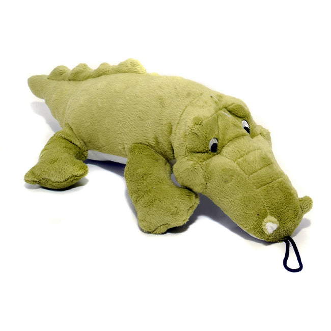 Green - Front - Danish Design Pet Products Charles The Crocodile Toy