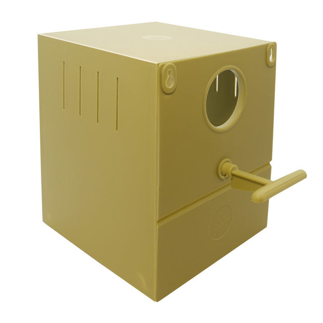 Beige - Front - Quiko Finch Round Hole Nest Bird Box