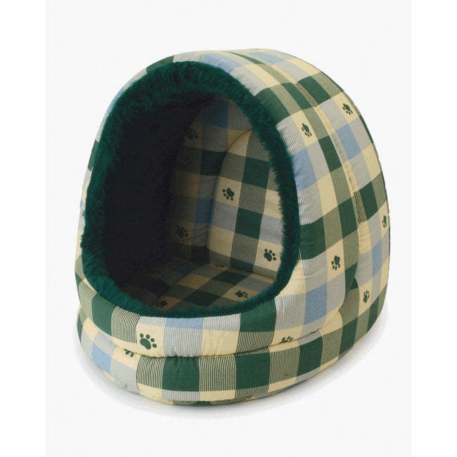 Green - Front - Pennine Giant Hooded Pet Bed