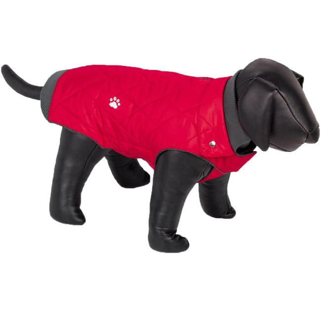 Red - Front - Nobby Nina Fleece Lined Dog Coat