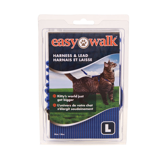 Blue - Front - Petsafe Easy Walk Cat Harness And Lead