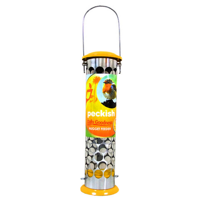 Yellow-Silver - Front - Westland Horticulture Peckish Daily Goodness Nugget Bird Feeder