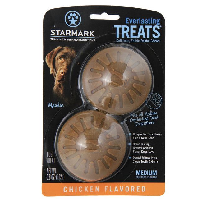 Chicken - Back - Rosewood Starmark Everlasting Treats Dental Chews (Pack Of 2)