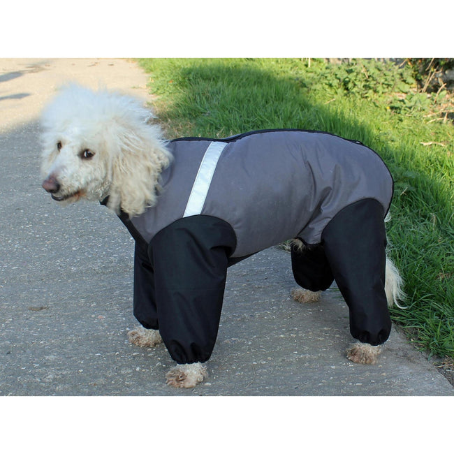 Grey - Front - Cosipet Trouser Extreme Dog Coat