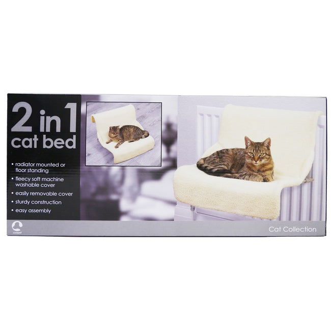 Cream - Front - Rosewood Luxury 2 In 1 Cat Bed