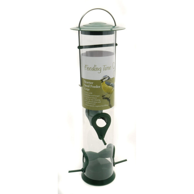 Green-Clear - Back - Rosewood Feeding Time Starter Seed Bird Feeder