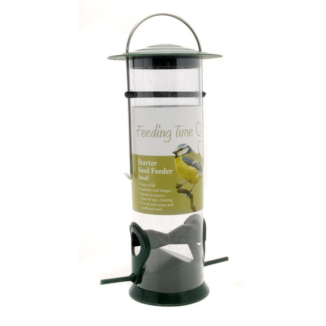 Green-Clear - Front - Rosewood Feeding Time Starter Seed Bird Feeder