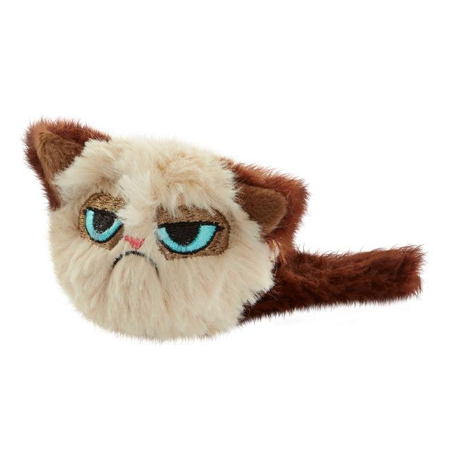 Beige-Brown - Front - Rosewood Grumpy Cat Fluffy Cat Toy